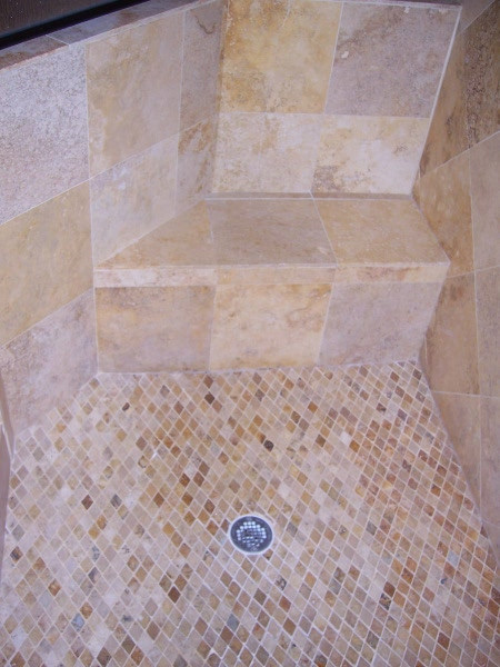Millbrook Construction - Bathroom remodel - Shower Seat